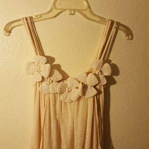 RYU flowery shirt spaghetti sleeves